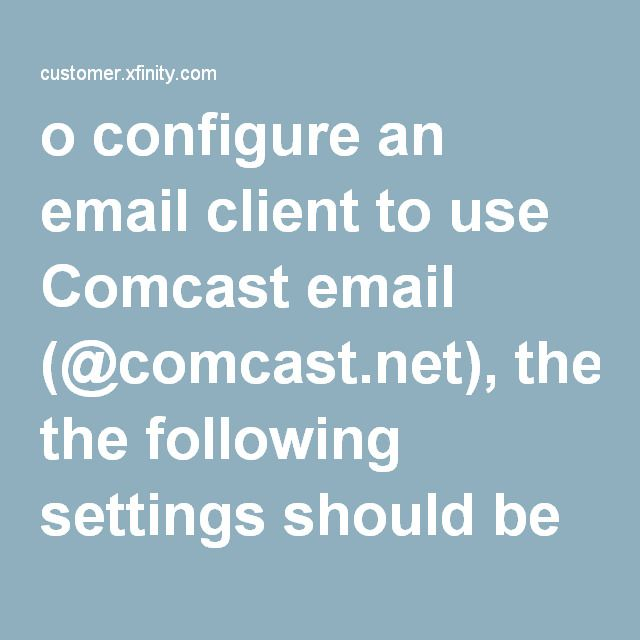 How to Set Up Your Comcast Email Address with an Email