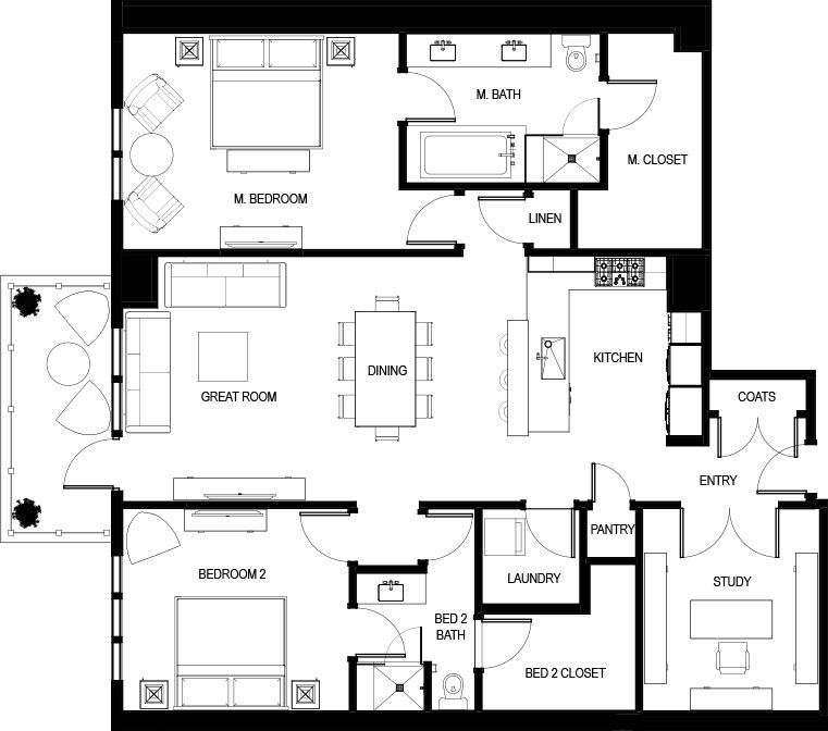 High Rise Condo Floor Plans Live At The Landmark Floor Plans Condo Floor Plans Tiny House Plans