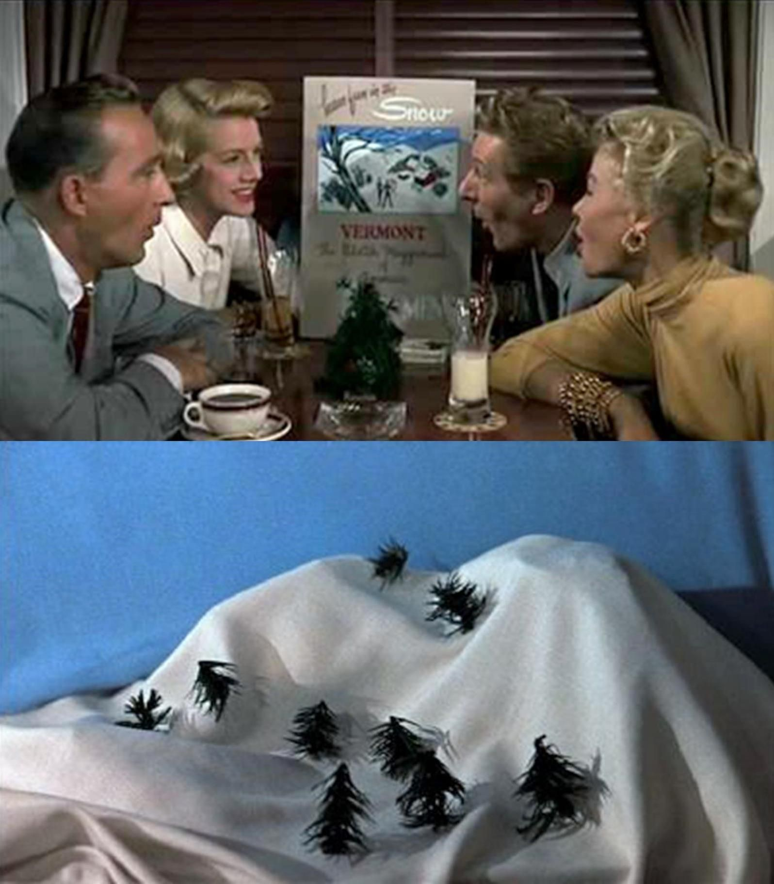 bing crosby rosemary clooney danny kaye and vera ellen sing a song about snow in white christmas 1954 - White Christmas Snow Song