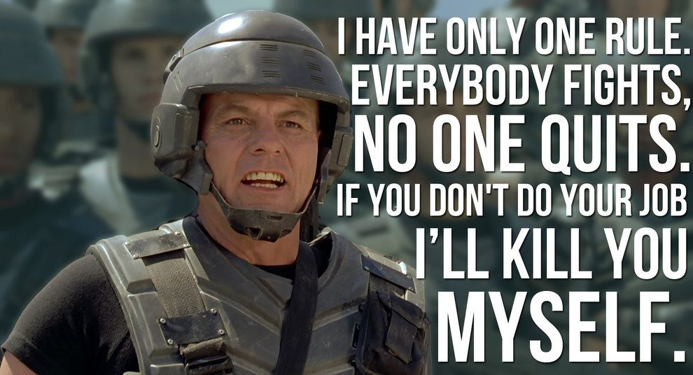 Has anyone ever read starship troopers, if so have you thought about?