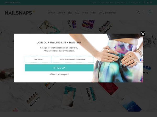 NailSnaps 20 off 20+ order and Free Shipping