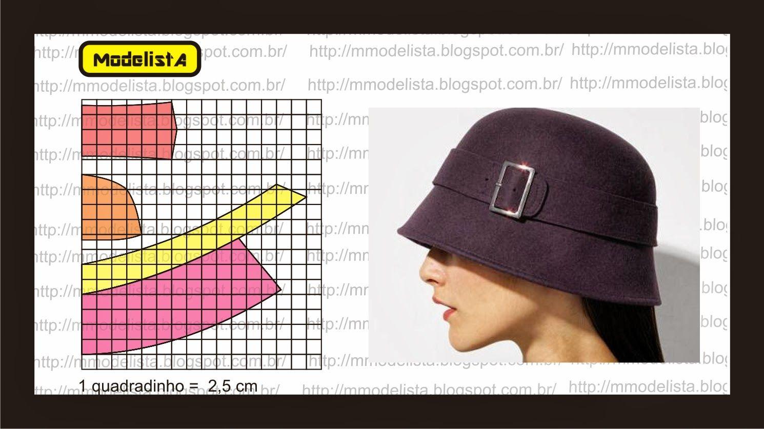 ModelistA: CHAPÉU | chapeus | Pinterest | Molde, Gorros y Costura