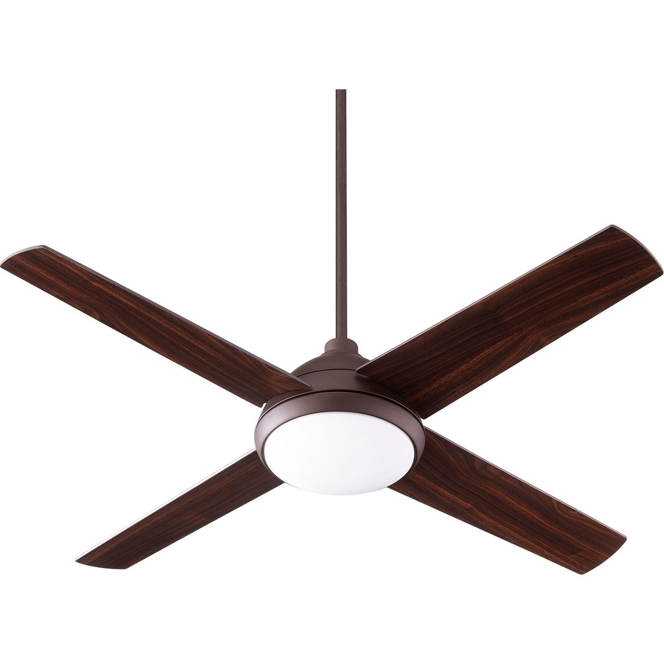 International Quest Led 52 Transitional Ceiling Fan With Integraded Light Kit Polished Nickel Wood