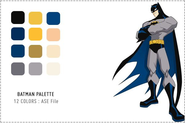 8 Superhero Color Palettes And 96 Swatch Downloads | Little Box Of Ideas