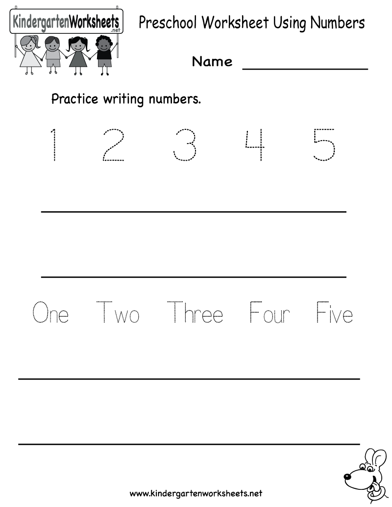 kindergarten preschool worksheet using numbers printable education kindergarten math. Black Bedroom Furniture Sets. Home Design Ideas