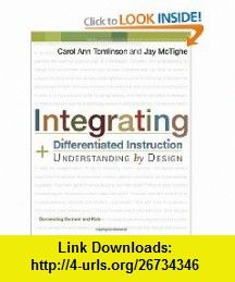 Integrating Differentiated Instruction Understanding By Design Connecting Content And Kids 9781 Differentiated Instruction Curriculum Development Instruction