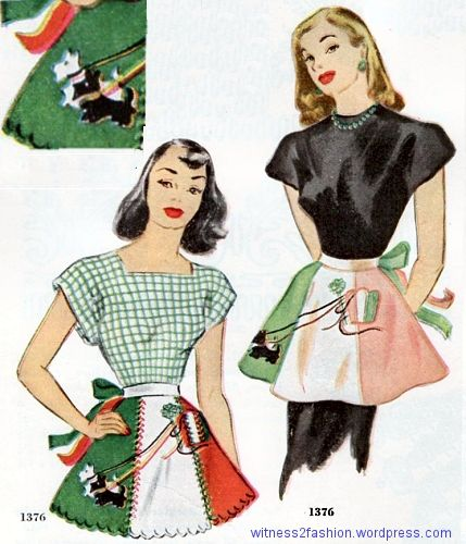 McCall Scottie dog apron, circa 1950.