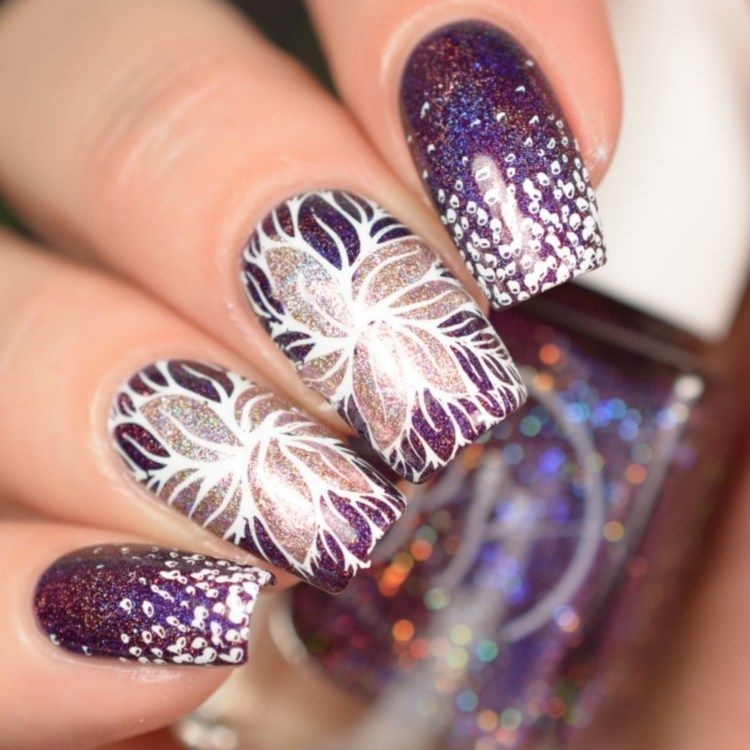 The Holo Hookup January 2018 Time To Wine Down | Flower nail art ...