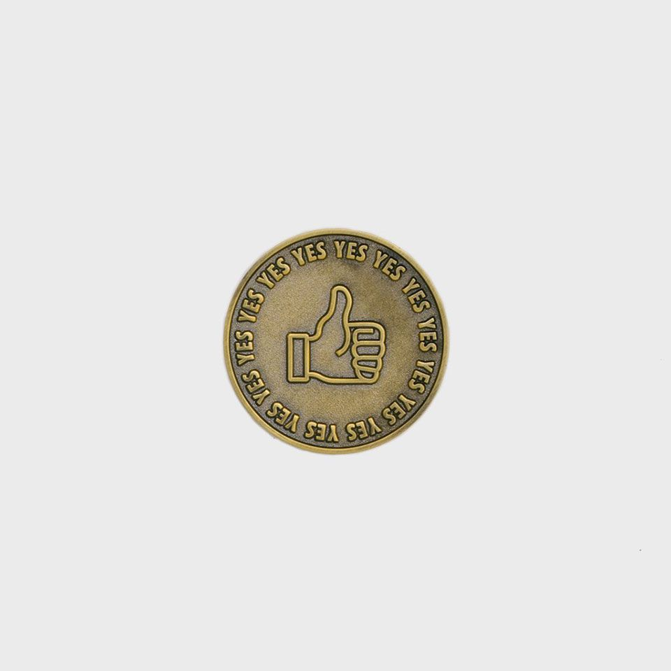 The Optimist Coin Is A Reminder To Be More Spontaneous And Say Yes Cool Things To Buy Cool Stuff Coins