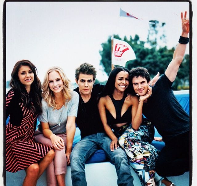 Best cast ever on the best show ever Vampire Diaries