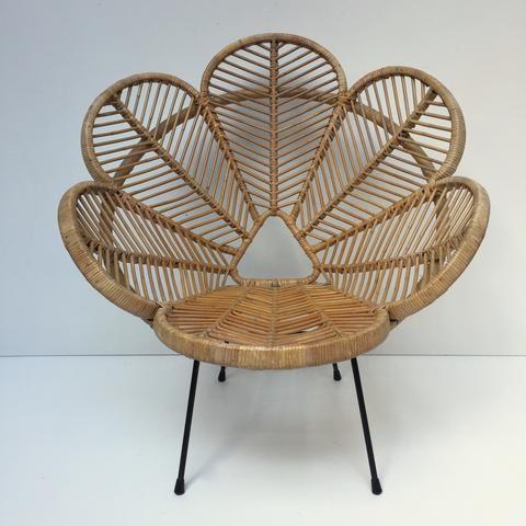 Vintage Wicker Rattan Flower Petal Chair Fauteuil En Rotin Vintage Fleur Petale Free Delivery Uk Livraison G Fauteuil Rotin Fauteuil Original Fauteuil Osier