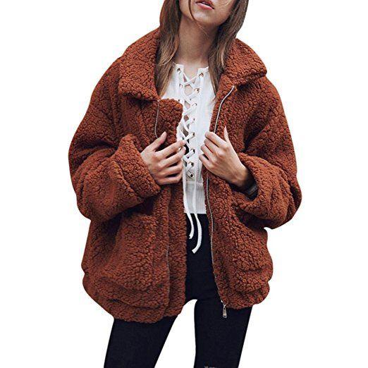 dd2920a0f91 Fall Outfits / Teddy Jacket Freeheart Women Fleece Cardigan, Fleece Jackets,  Fleece Outwear, Warm Winter Jacket, Fleece Parka, Soft Comfortable