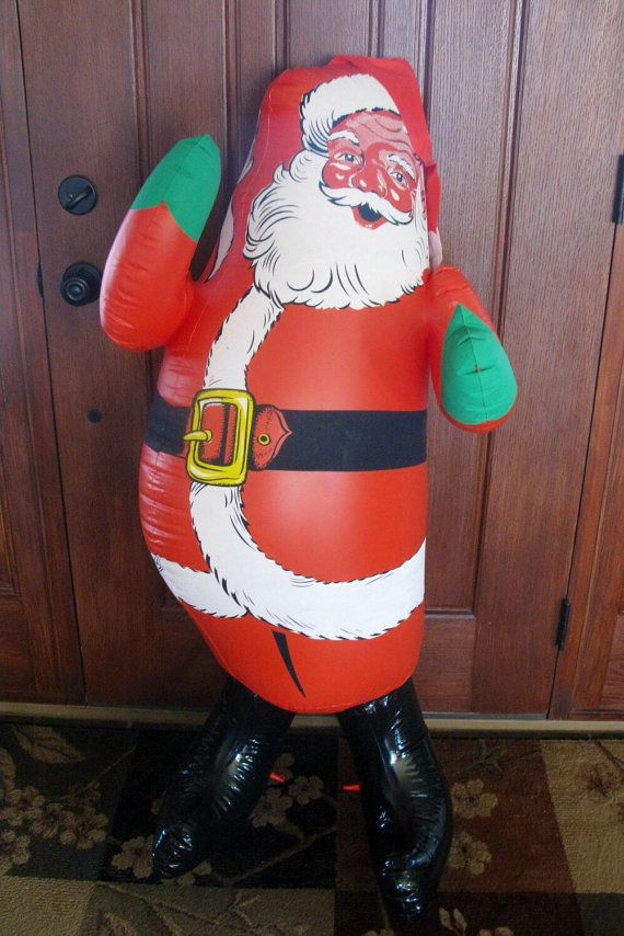 Blow Up Things : things, Giant, Inflatable, SANTA, Condition, Doughboy, Santa,, Vintage, Christmas, Decorations,, Retro