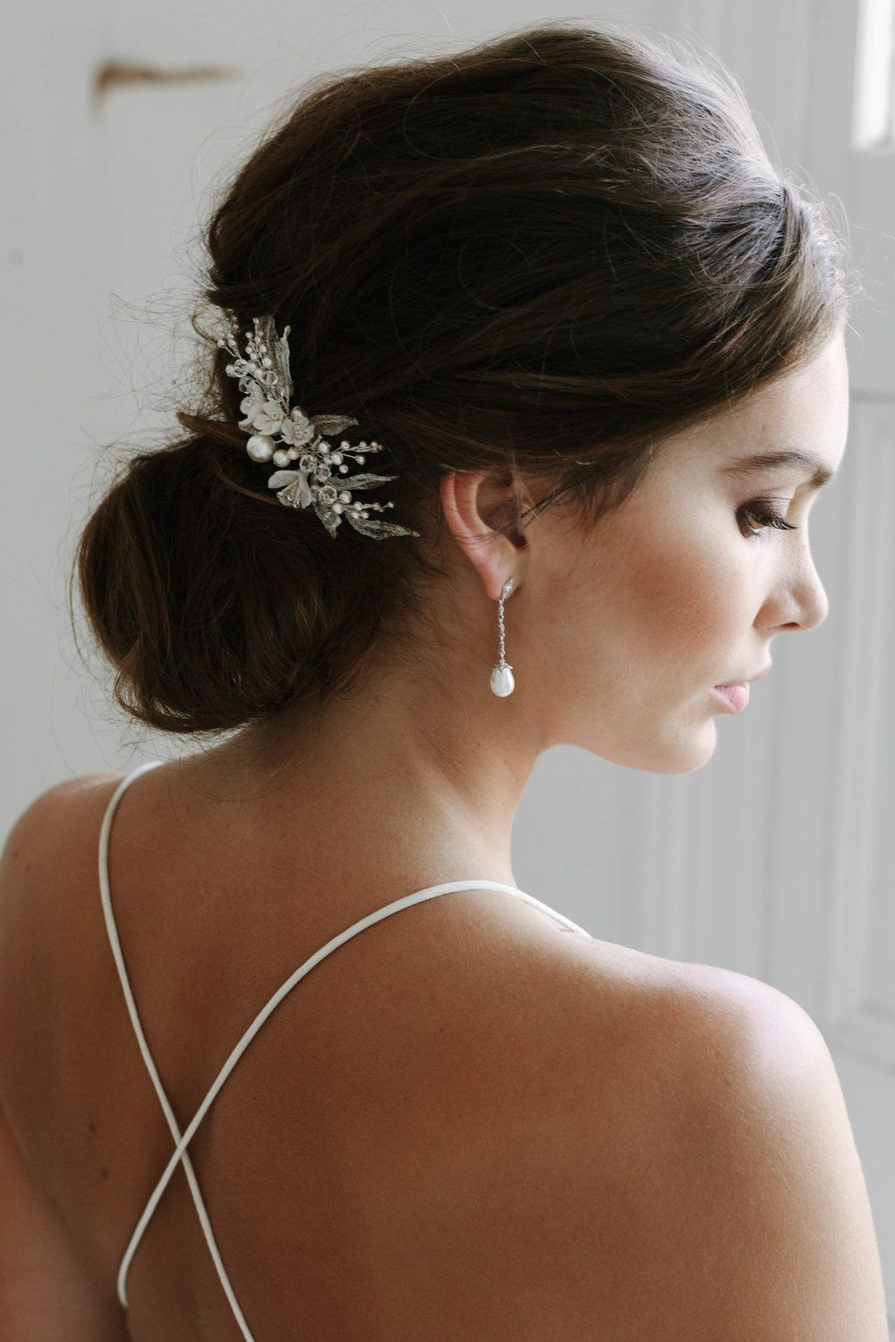 bastien pearl bridal earrings | pearls, wedding accessories and