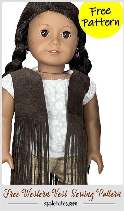 Kostenlose Western Weste Schnittmuster für American Girl Dolls - Kostenlose Schnittmuster für 18 Puppen - #American #Dolls #für #Girl #Kostenlose #quotPuppen #Schnittmuster #Weste #Western #americandolls