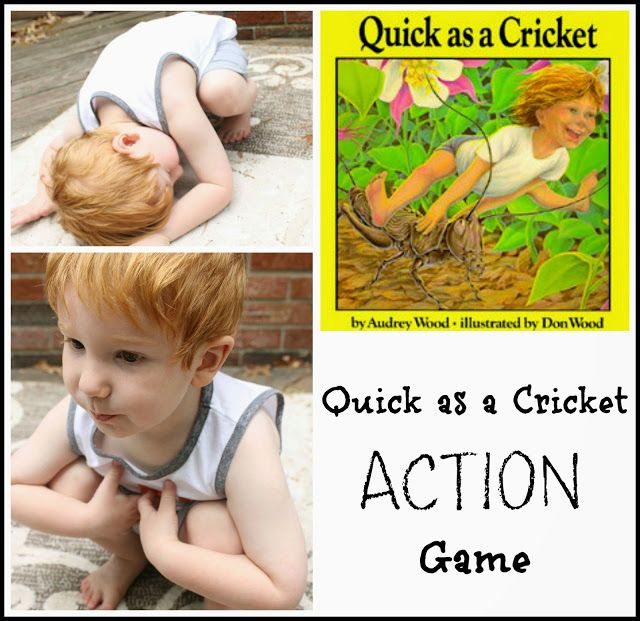 Quick As A Cricket Action Game Activities Cricket Action Games