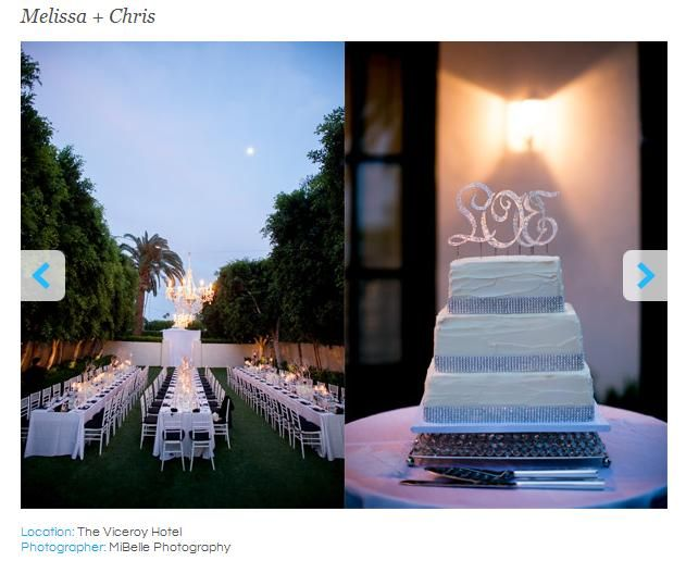 Wedding Cake at Viceroy Hotel - from OTR