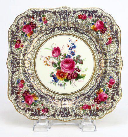 SET OF 12 ANTIQUE ROYAL DOULTON FLORAL PLATES  Lot 57. By artist  C  sc 1 st  Pinterest & SET OF 12 ANTIQUE ROYAL DOULTON FLORAL PLATES : Lot 57. By artist ...
