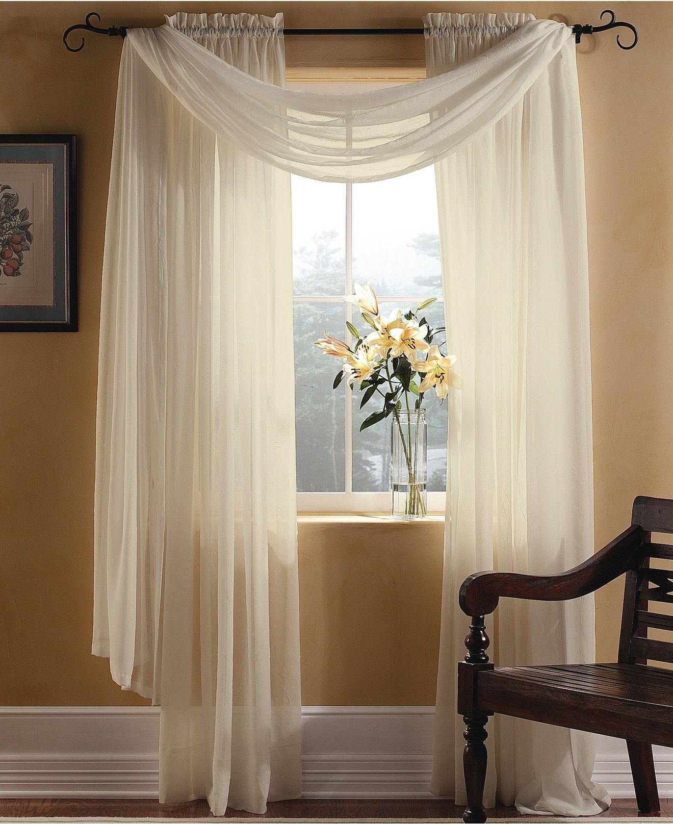 Window decor for wedding  miller curtains sheer preston poletop window treatment collection