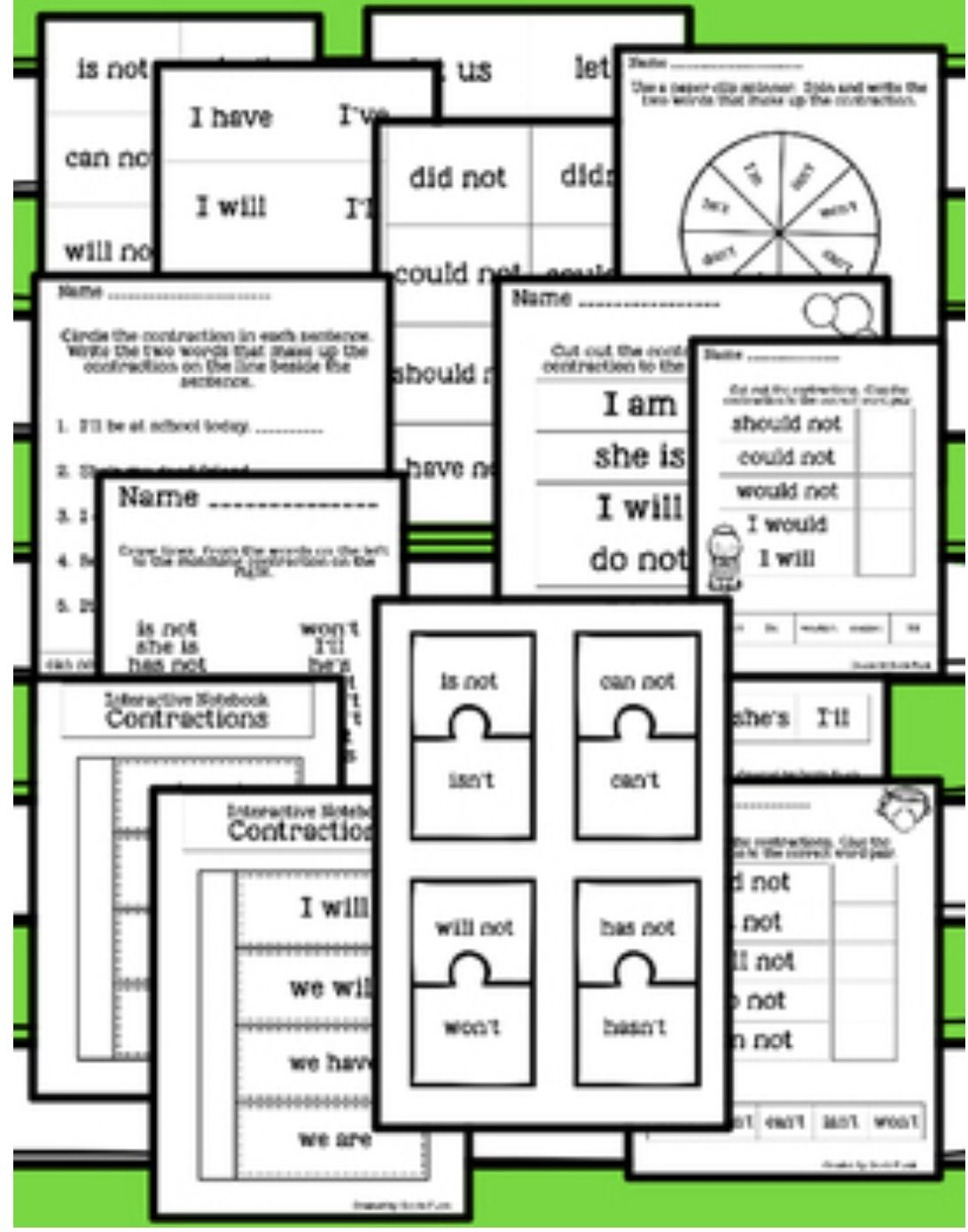 Contractions Worksheets Puzzles And Interactive Notebook