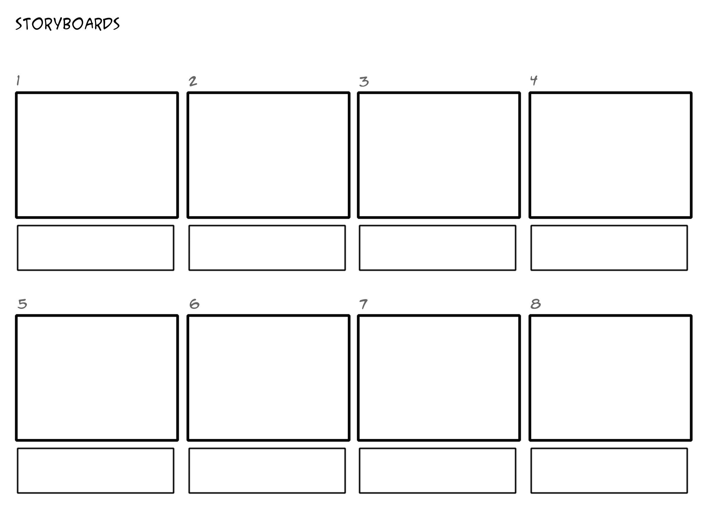 Image result for professional film storyboard template for Film storyboard template word