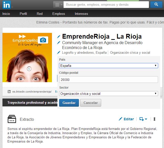 CP Linkedin de La Rioja