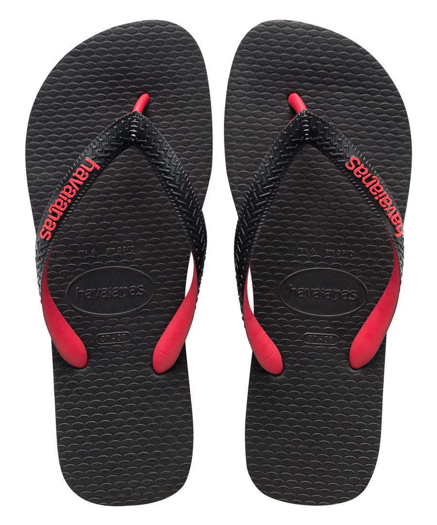 de20a82c3d39f Look at this Havaianas Black   Red Top Tred Flip-Flop - Men on  zulily  today!