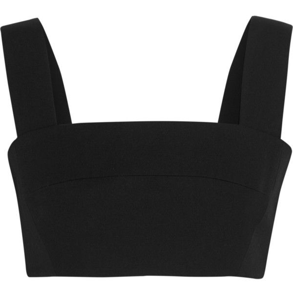 Balmain Wool bralet (580 CAD) ❤ liked on Polyvore featuring tops, shirts, black, zip top, black top, zipper top, balmain shirt et zip shirt