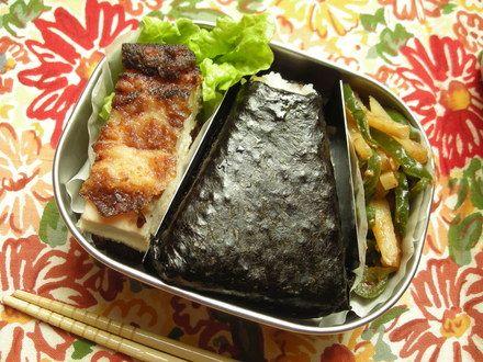 ジャガピーの味噌ケチャと塩麹から揚げのお弁当 : ヒロタン&タケタンのお弁当