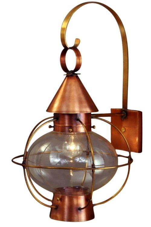 Cape Cod Onion Lantern Copper Wall Light With Scroll Copper Wall Light Copper Lantern Wall Lights