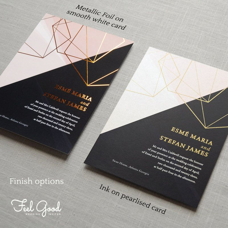 Featuring sparkling pearl card or real metallic foil. A luxurious ...