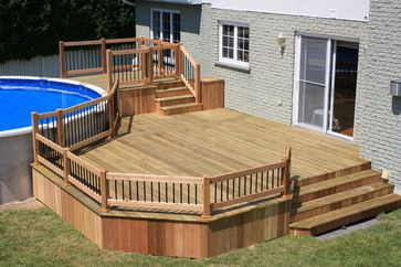 Decks and patios ideas patio deck ideas design ideas for Plan de deck de piscine