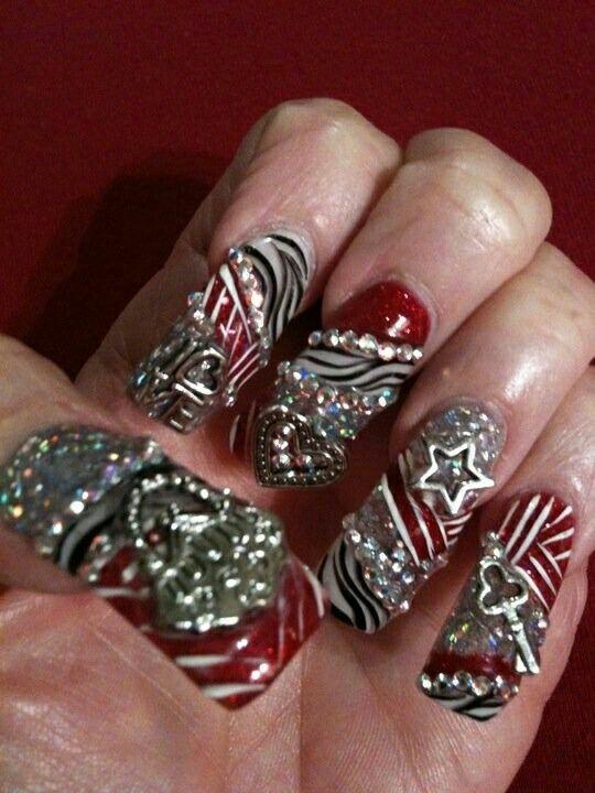 ✴✴✴〰Nail art 〰✴✴✴ | uñas estilo sinaloa T.M.M :) | Pinterest