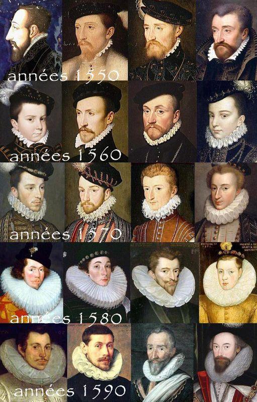 Evolution générale de la fraise (homme) XVIème siècle