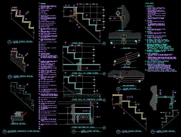 Good ☆【Stair Details】☆ CAD Library | AutoCAD Blocks | AutoCAD Symbols |