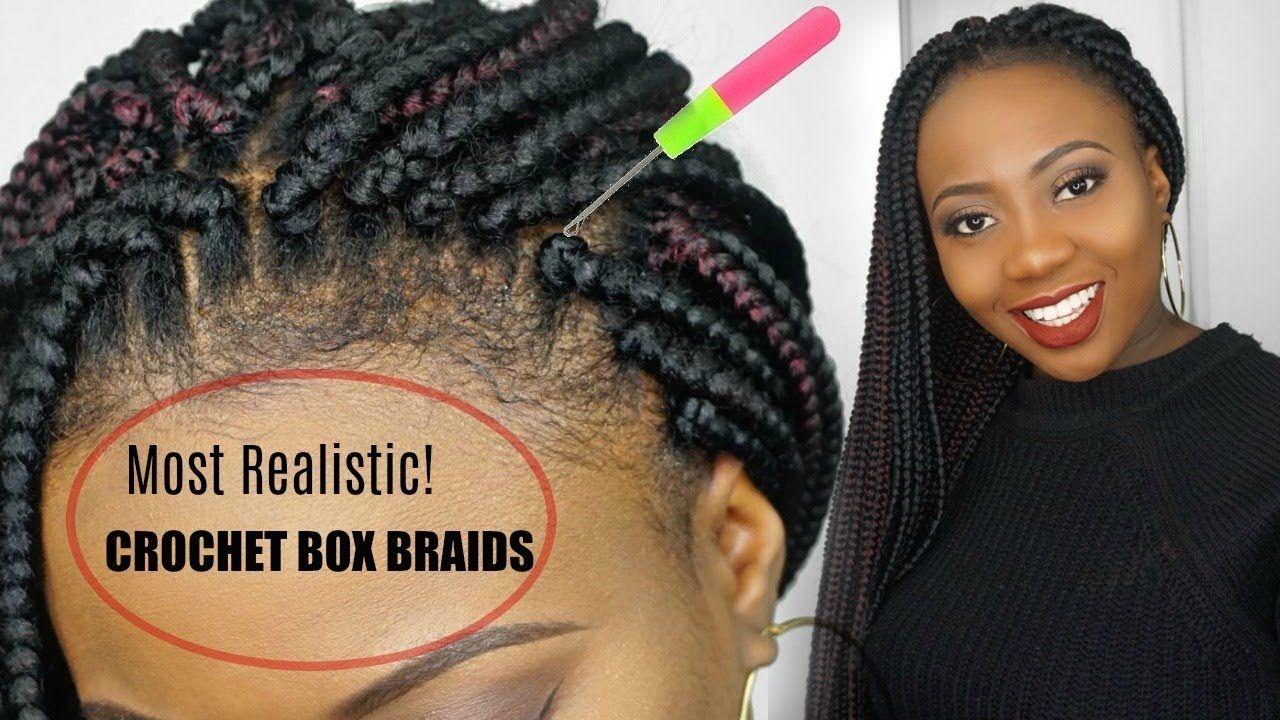 How To Crochet Box Braids Tutorial Free Parting Looks Soo Real Y Crochet Box Braids Box Braids Tutorial Braid Tutorial