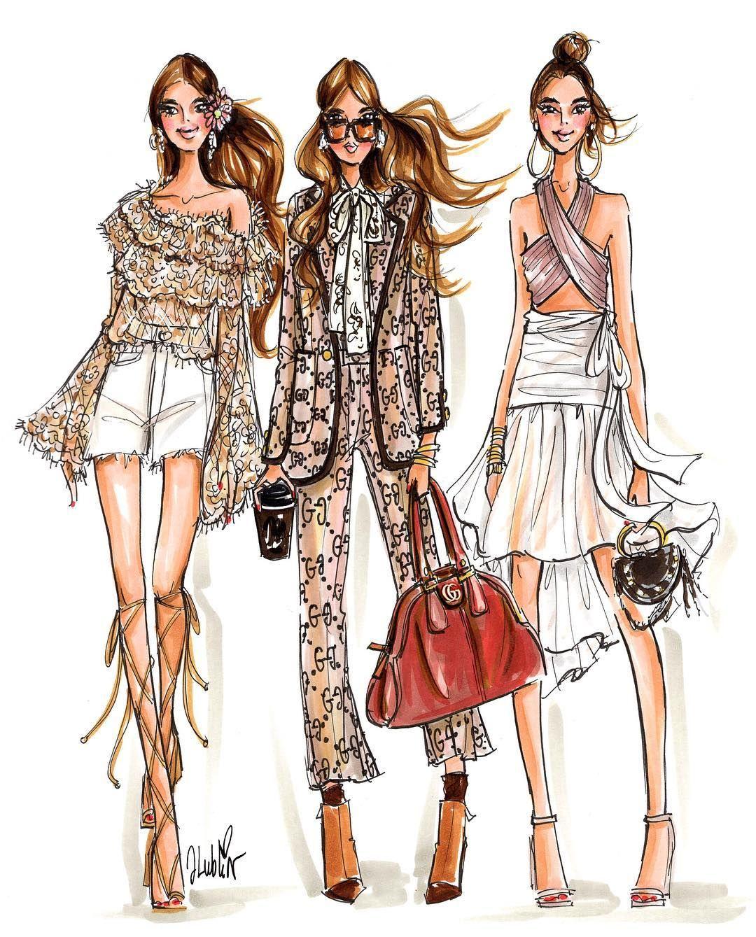 Принцесса, картинки про моду и стиль нарисованные