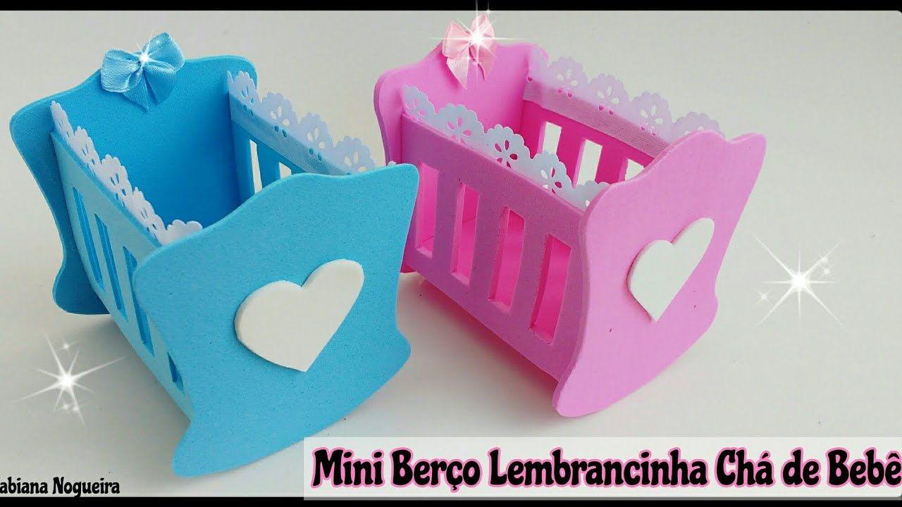 937496b328 Mini Berço de EVA com Molde / Lembrancinha Chá de Bebê 👶🍼💞   Baby ...