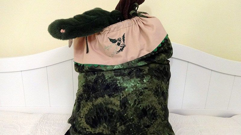 Pete's Dragon pillowcase/tote with glow-in-the-dark fire from Elliot