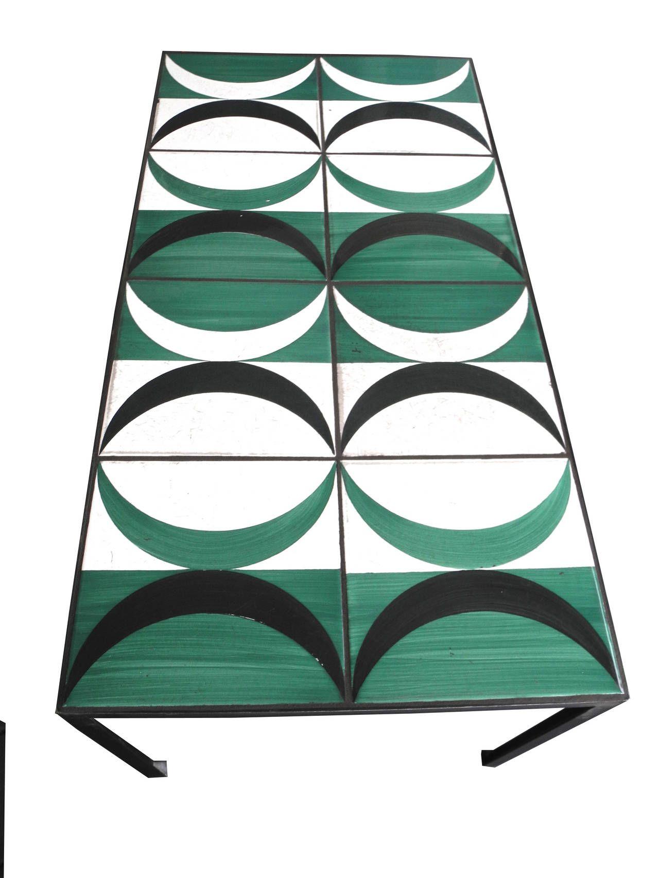 Coffee Table with Gio Ponti Tiles | 1stdibs.com