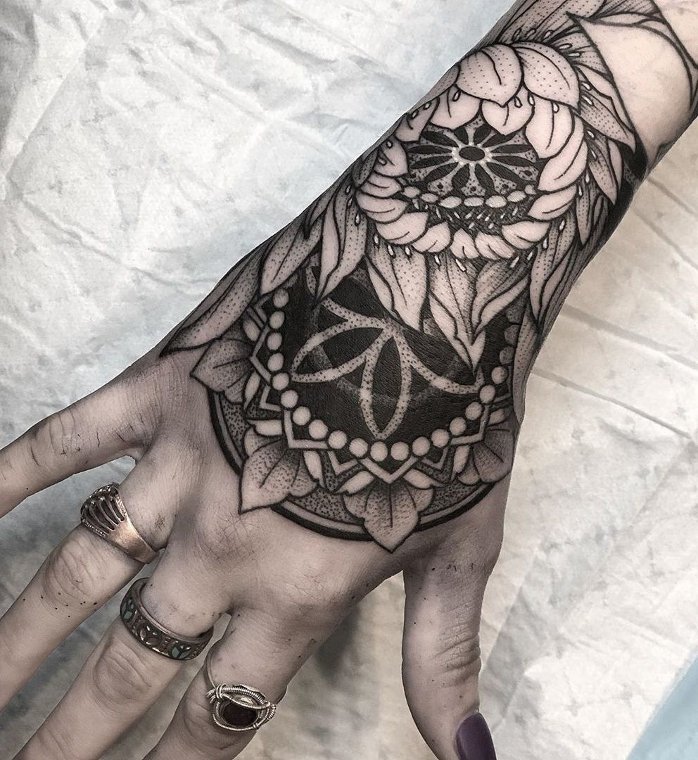 50 Of The Most Beautiful Mandala Tattoo Designs For Your Body Soul Hand Tattoos For Women Hand Tattoos Body Art Tattoos