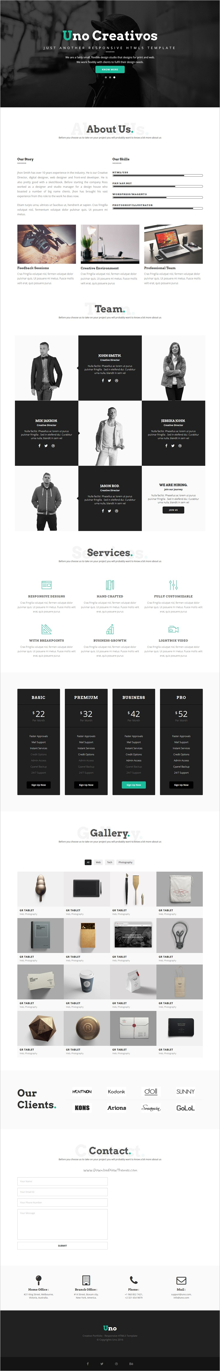 Uno is a modern and creative #Bootstrap HTML5 #template for stunning ...