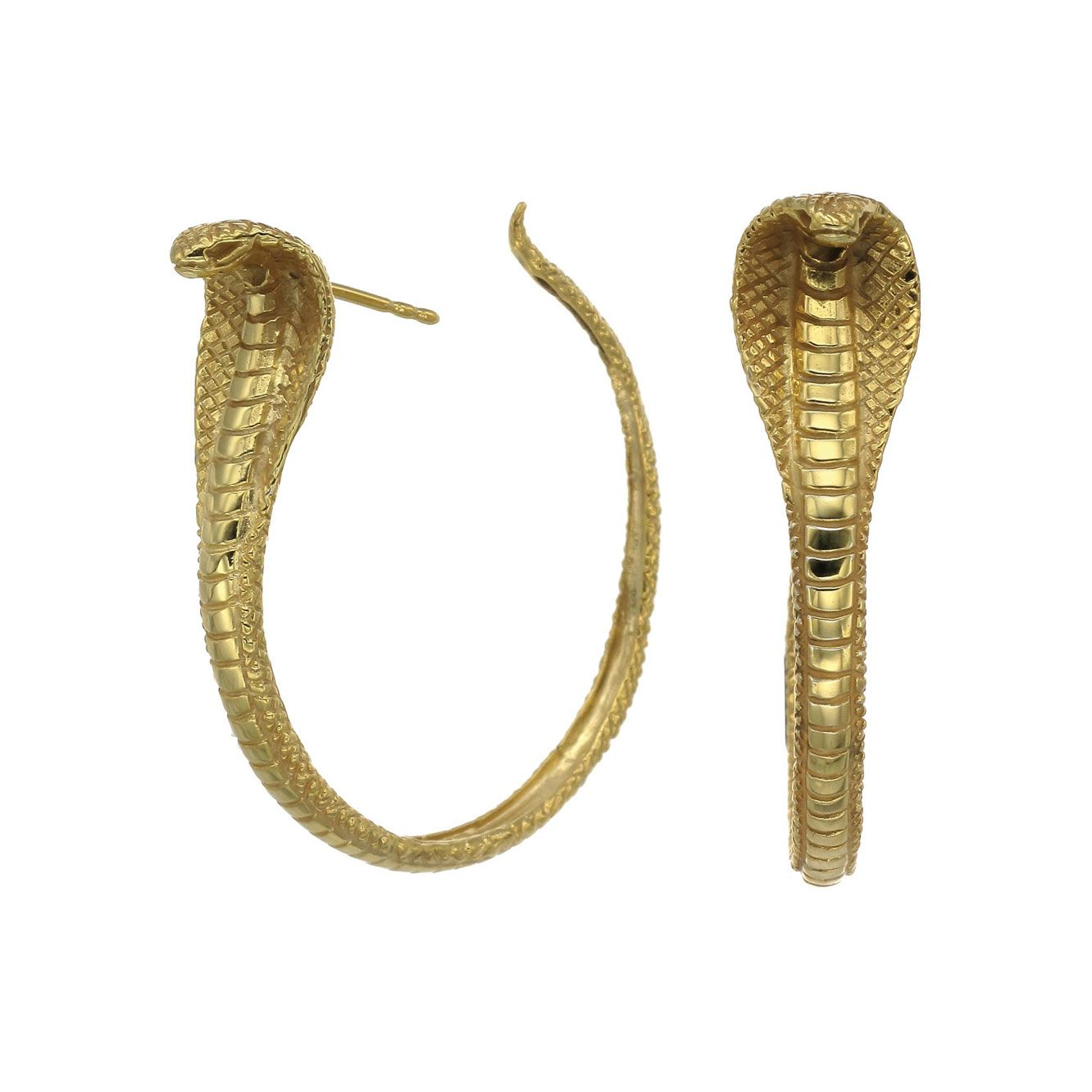 Silver protect me hoop earrings by zoe morgan the cobra is an zoe and morgan gold cobra hoop earrings buycottarizona Image collections