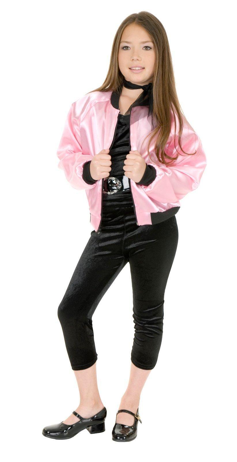 Pink Satin Ladies Kids Jacket | Halloween costumes