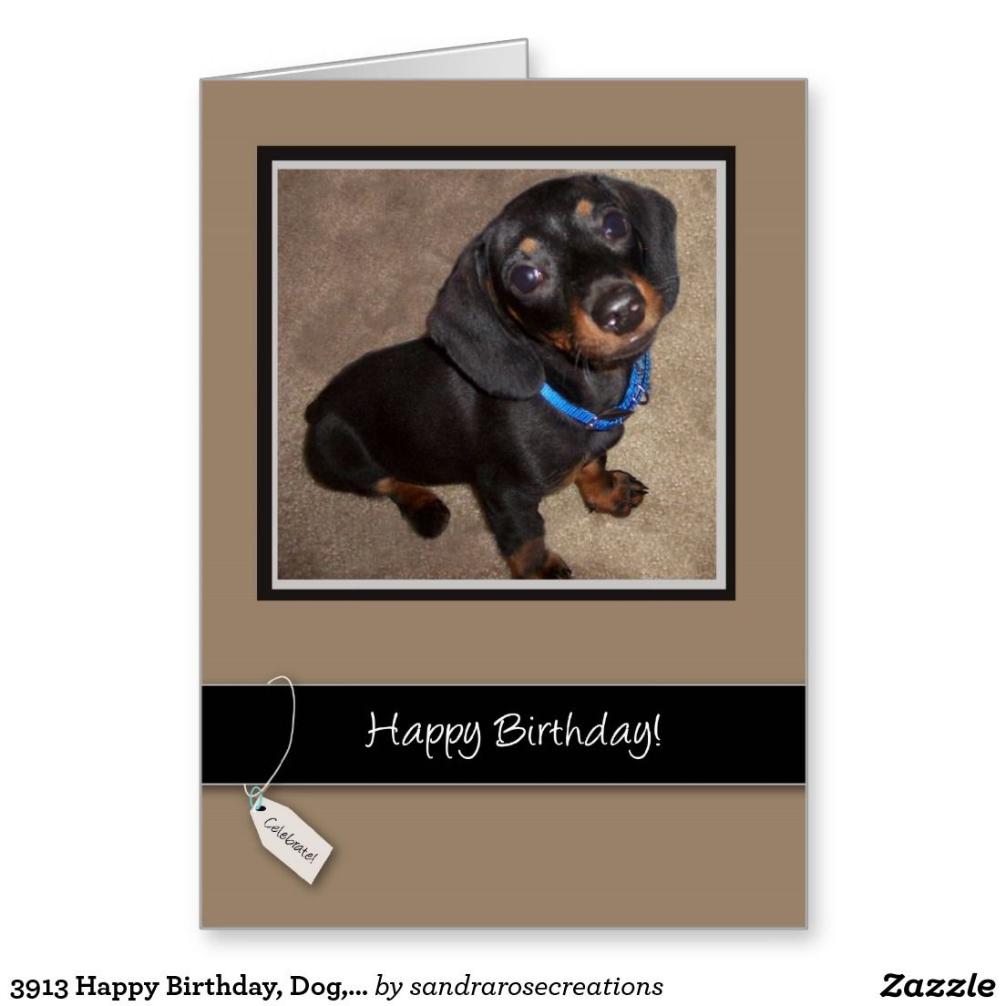 3913 Happy Birthday Dog Dachshund Greeting Card Animals