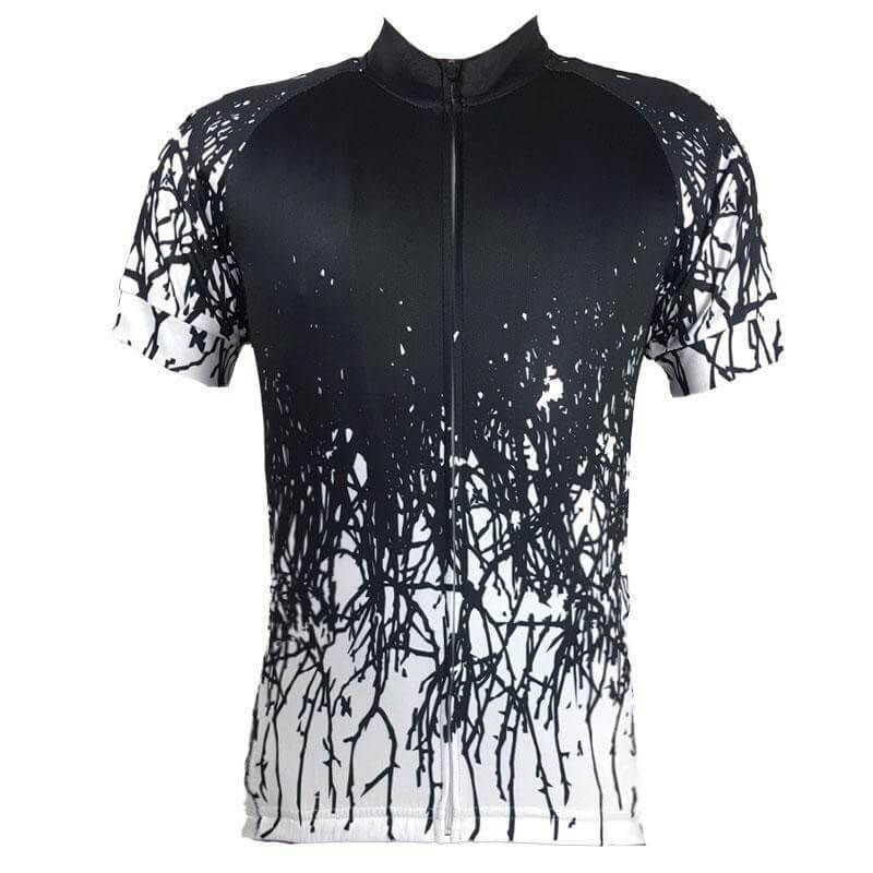 053fdd2f4 This Huntsman Men s Black Cycling Jersey is made from high-quality Cool-Max  breathable fabric with a hidden full-length zip and three reinforced back  ...