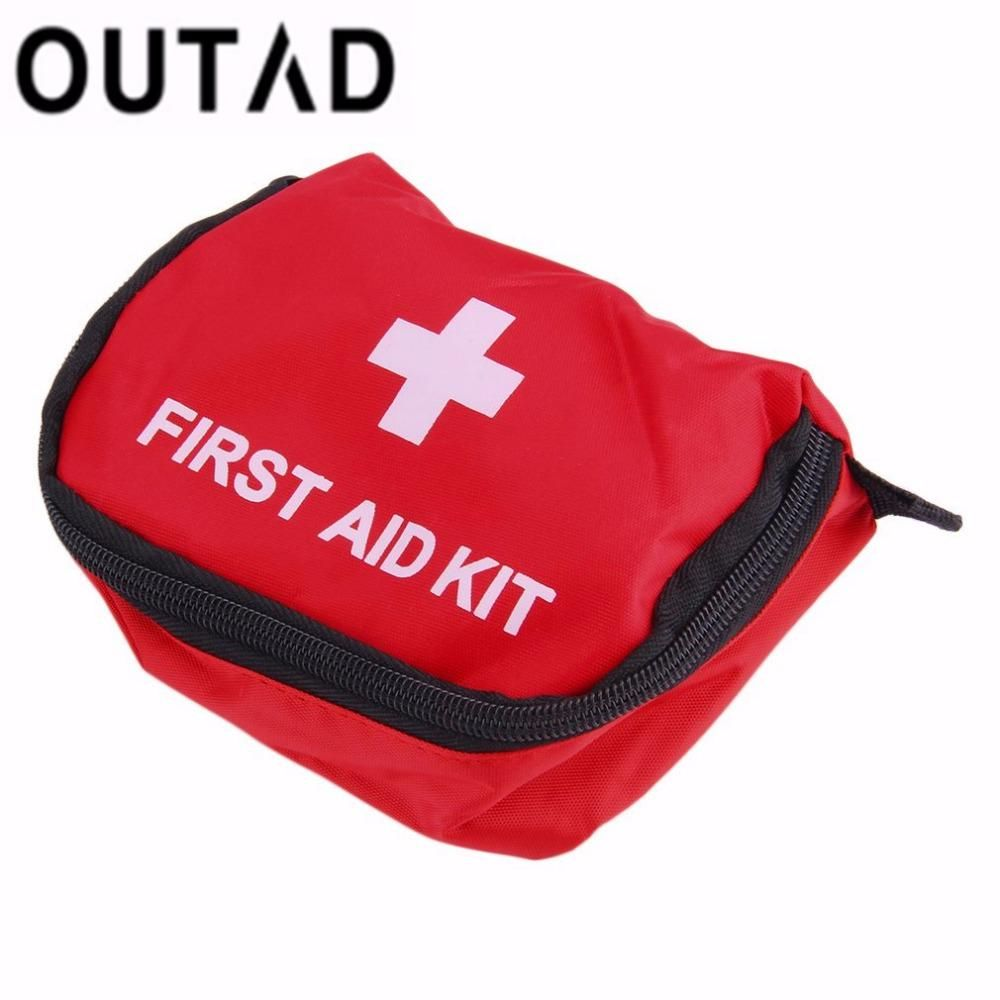 dde19f2d5f OUTAD First Aid Kit 0.7L Red PVC Outdoors Camping Emergency Survival Empty  Bag Bandage Drug