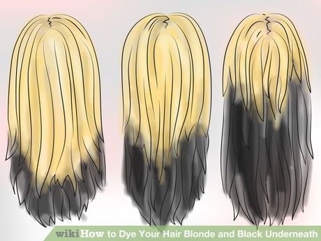 Dye Your Hair Blonde And Black Underneath With Images Brown