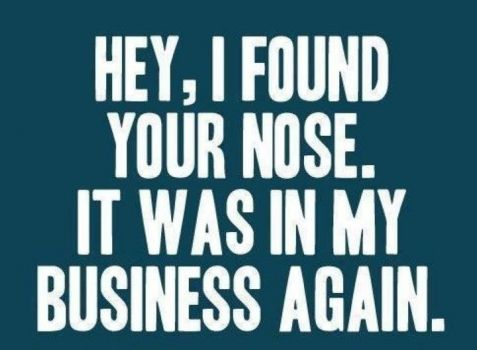 Mind Your Own Business Encognitive Com Funny Quotes Words Quotes