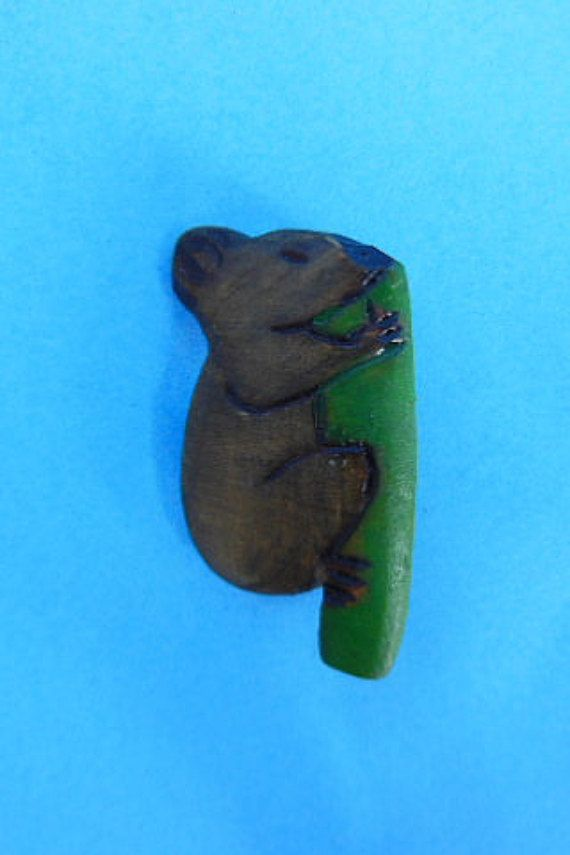 Captivating Vintage Wooden Koala Bear Pin By TreasuredSerendipity On Etsy